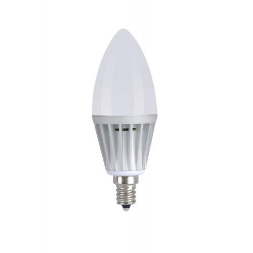 6 Pack Daylight 5w Led Candle Bulb Torpedo Shape Candelabra Light E12 Base 40 Watt Replacement