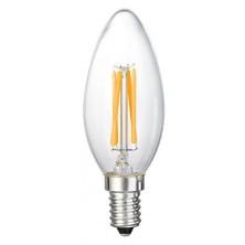 C35 6-Watt LED Filament Candelabra Bulb - Dimmable Torpedo Tip - Soft White 2700K - E12 Base - Equivalent to 60W Incandescent Chandelier Bulb - 360 Degree Beam Angle, 6 Pack