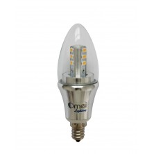 Bullet Top Natural Daylight 4000k Dimmable Omailighting E12 LED Candelabra Base Bulb 6 watt LED Chandelier Bulbs