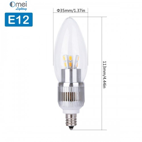 e12 dimmable 60w equivalent 7w led 700 lumens round top. Black Bedroom Furniture Sets. Home Design Ideas