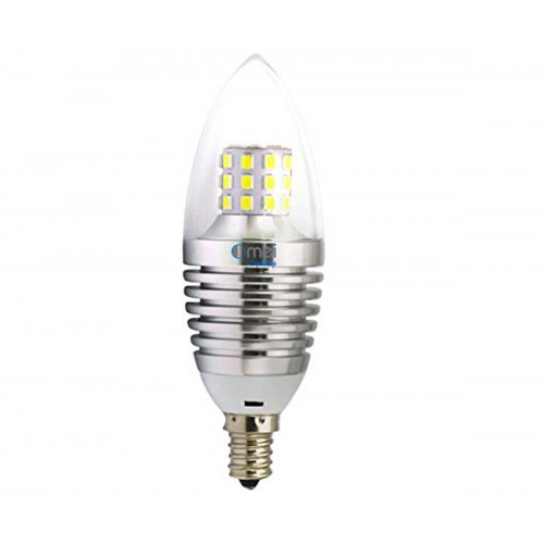 Led Candelabra Bulb 6 Pack 7w E12 Warm White 2850k Silver Bullet Top Small Size 60w Bulbs Replacement 360