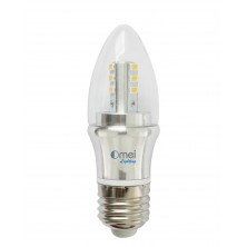 Dimmable 60w E26 medium base 6w led chandelier light bulbs bullet top incandescent candle bulb