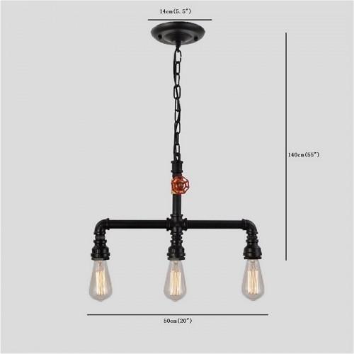 Ceramic Pendant Light Rustic Light Fixture Retro Lighting: Pendant Light Ambient Light Mini Style Pipe Chandeliers
