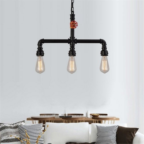 Iwhd Water Pipe Retro Vintage Ceiling Light Fixtures: Pendant Light Ambient Light Mini Style Pipe Chandeliers