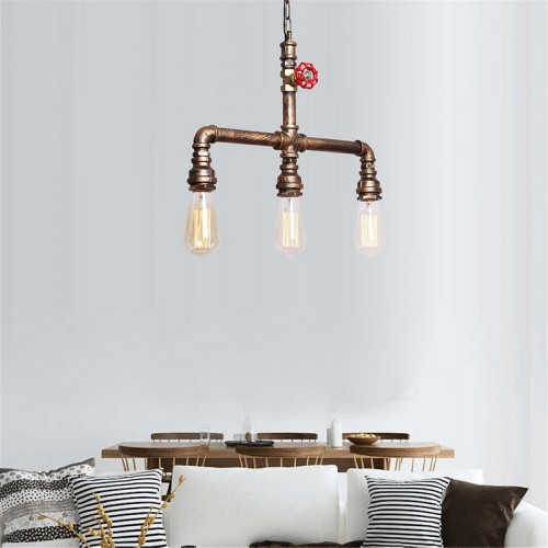 Pendant light ambient light mini style pipe chandeliers rustic pendant light ambient light mini style pipe chandeliers rustic lodge vintage retro ceiling lighting fixture for aloadofball Gallery