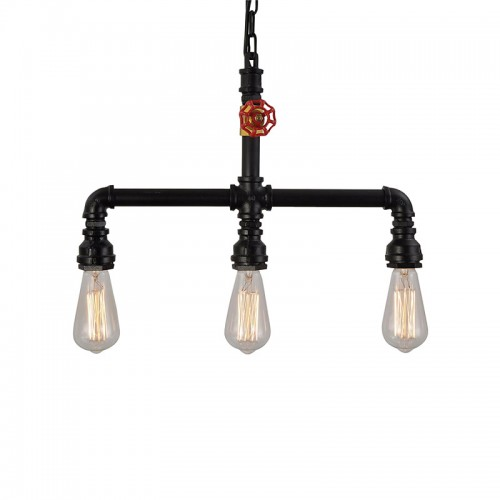 Pendant Light Ambient Light Mini Style Pipe Chandeliers Rustic ...