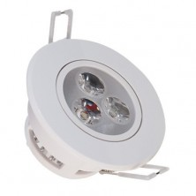 110-240V AC 3 Watt High Power Decorative Recessed LED Ceiling Light Cabinet Spot Down Lamp Warm White
