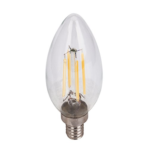 Cool White Led Filament Candelabra E12 Light Bulb Dimmable 5w B10 Chandelier