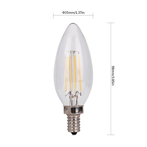Cool White LED Filament Candelabra ,e12 LED Filament Light Bulb, LED ...