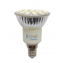 E14 5050 SMD 24-LED Cool White 130-150LM 3w Light Bulb