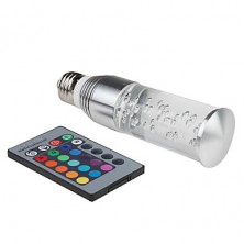 E26/E27 3 W High Power LED 270 LM RGB/Color-Changing Remote-Controlled/Decorative Candle Bulbs AC 85-265 V