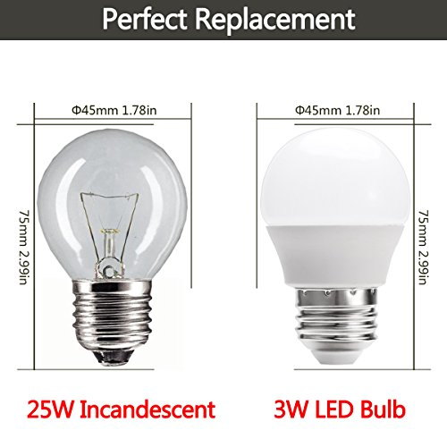Bulbs 25 Watt Equivalent Incandescent Bulb, 3W G4 E26 LED Light ...