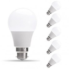 6-Pack 9W A60 B22 LED Bulbs, 60W Incandescent Bulbs Equivalent, Day White, 6000K,810lm, Bayonet LED Light Bulbs [Energy Class A+] [Energy Class A+]