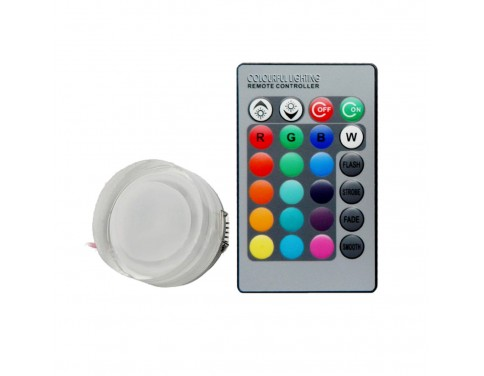 3W RGB LED Round Ceiling Panel Light Lamp Downlight 110V/220V with IR Remote Control