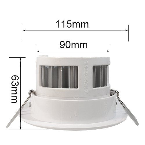2 Pack Led Energy Saving Flush Fitting Ceiling Light 7w 85