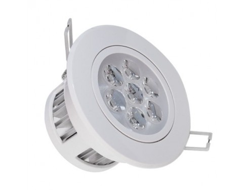 2-Pack LED Energy Saving Flush-fitting Ceiling Light 7W 85-265V Warm White +led driver