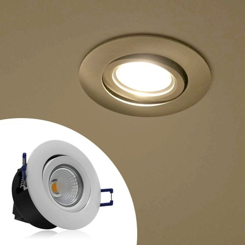 led recessed ceiling lights. Directional 5W COB LED Recessed Lighting Fixture - 2800K Warm White Ceiling Light Equal To 50W Led Lights
