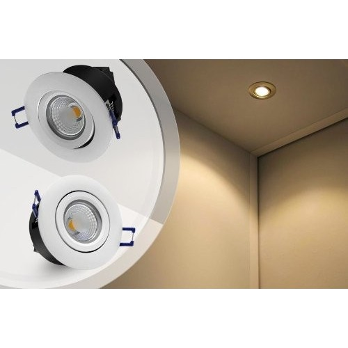 Directional 5w cob led recessed lighting fixture 2800k warm white directional 5w cob led recessed lighting fixture 2800k warm white led ceiling light equal to 50w aloadofball Gallery