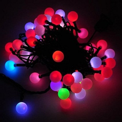 led color changing linkable 16 feet christmas light string with 50 rgb globes with white wire. Black Bedroom Furniture Sets. Home Design Ideas