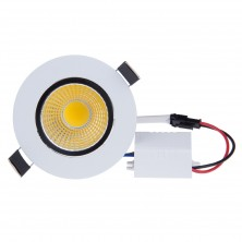 9W 110V New Dimmable Warm White COB LED Ceiling Light Recessed Fixture Down Light Bulb Lamp