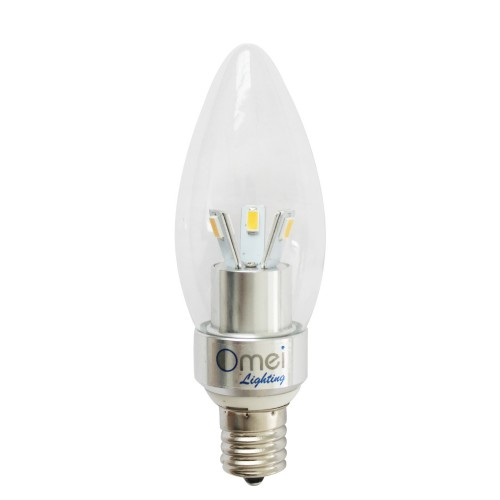 Dimmable E17 Led Light Bulb Lamp 3w Warm White 2700 3000k Bullet Top
