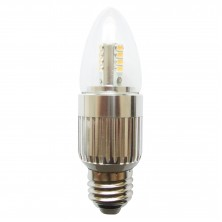 LED 7w 60 Watt Incandescent Chandelier Light Bulbs with a Medium E26 Base Warm White 3000K Bullet Top Lamps