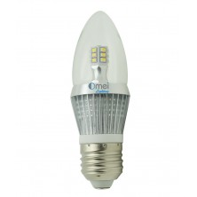 6-Pack e26 led bulb dimmable candelabra bulbs 5w 50 watt Daylight white 6000k torpedo bullet top light bulb