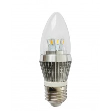 4W Dimmable LED Candle Bulb, LED Candelabra Light Bulb, E26 Medium Base, Torpedo Shape, 25 Watt Replacement, Candle LED, Candelabra LED