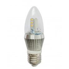 Dimmable 5W LED Candle Bulb, LED Candelabra Light Bulb, E26 Medium Base, Torpedo Shape, 40 Watt Replacement, Candle LED, Candelabra LED