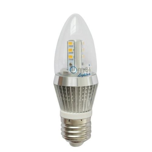Dimmable 5W LED Candle Bulb, LED Candelabra Light Bulb, E26 Medium ...