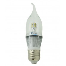 e26 led bulb dimmable candelabra bulbs 5w 50 watt Daylight white 6000k torpedo Bent tip light bulb