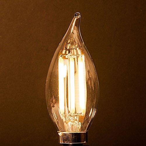 Energy Saving 6-Watt LED Filament Candelabra Light Bulb - Dimmable ...