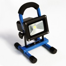 Cordless portable hand-carry rechargeable 10W IP65 waterproof outdoor LED Flood light, emergency light with battery