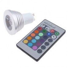 3W GU10 16 Colors Changing RGB LED Light Bulb With Remote