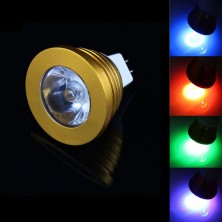 LED Spot Bulb MR16(GU5.3) 3W 200LM 1 pcs High Power RGB Light-Golden(AC/DC12V)