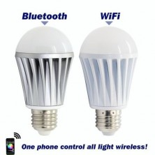 New Wifi Bluetooth Controlled LED Color Smart Light Bulb 7W E27 RGBW Lamp