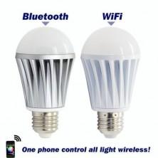 New Wifi Bluetooth Controlled LED Color Smart Light Bulb 7W E27 RGBW Lamp