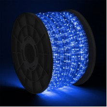 300' LED 2-Wire Blue Rope Light Home Patio Party Christmas Decorative In/outdoor