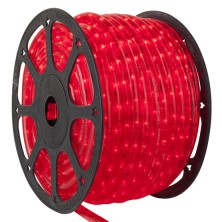 "150' Red Chasing LED Rope Light, 3 Wire 1/2"", 120 Volt"