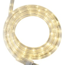"""18' Warm White LED Rope Light, 2 Wire 1/2"""", 12 Volt"""