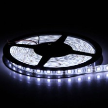 16.4FT 5M SMD 5050 Waterproof 300LEDs Cool White LED Flash Strip Light ,LED Flexible Ribbon Lighting Strip,12V 60W
