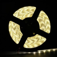 16.4FT 5M SMD 5050 Waterproof 300LEDs Warm White LED Flash Strip Light ,LED Flexible Ribbon Lighting Strip,12V 60W