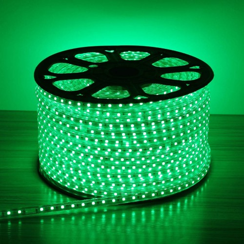 120v led strip light green super bright 5050 leds waterproof 110 120v led strip light green super bright 5050 leds waterproof pack of 50m flexible led rope light aloadofball Image collections