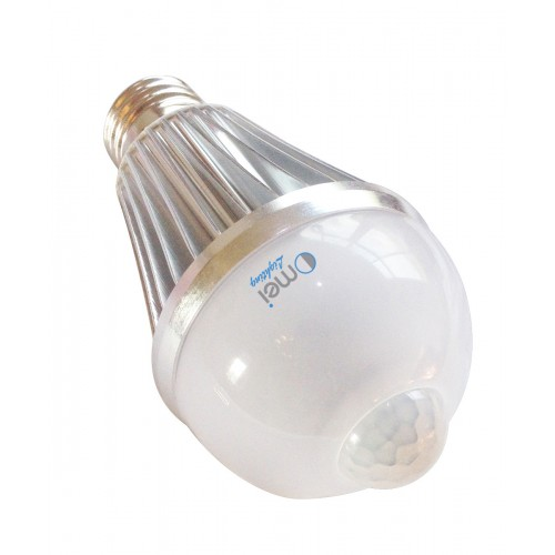 8 w e26 e27 warm white led motion sensor light bulb led motion bulb motion activated light - Led Motion Sensor Light