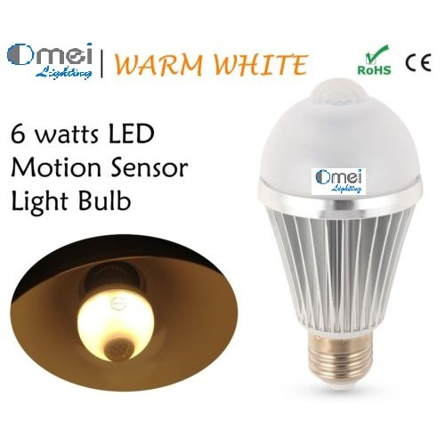 8w Motion Sensor Light Bulb E27 LED Bulb Smart Light For Closet Omailighting