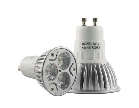 10PCS 4W GU10 Warm White Spotlight Energy Saving LED Light Bulbs/Lamps