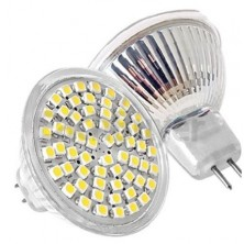 Free shipping 10x 110V 5W MR16 3528SMD 60led High Power LED Light Bulb LED Daylight lamp with Cool White 10pcs/lot