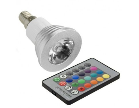 3W E14 Remote Controlled 16 Colours Changing LED RGB Light Lamp Bulb