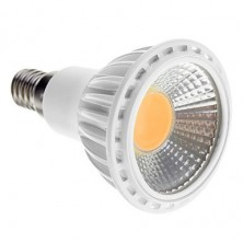 Dimmable E14 5W COB 450-480LM 2700-3500K Warm White Light LED Spot Bulb