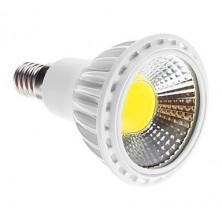 Dimmable E14 5W COB 450-480LM 6000K Cool White Light LED Spot Bulb